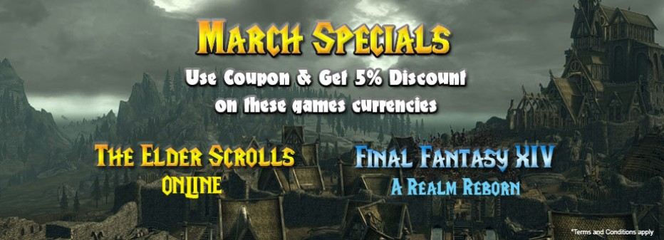 March specials – Elder Scrolls Online & Final Fantasy XIV currencies