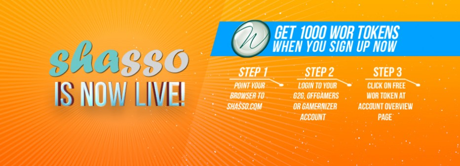 Shasso is LIVE! Free WOR tokens, so claim yours now!