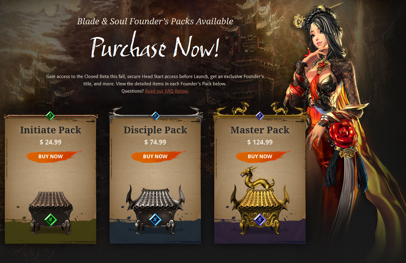 blade and soul founders pack