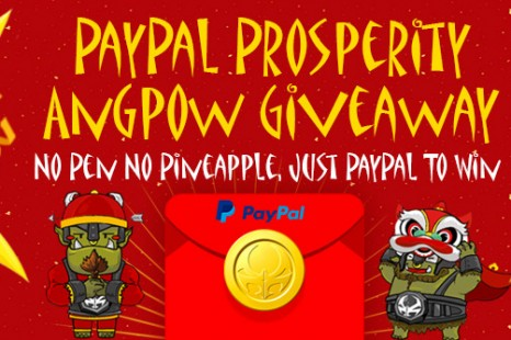 PayPal Prosperity Angpow Giveaway