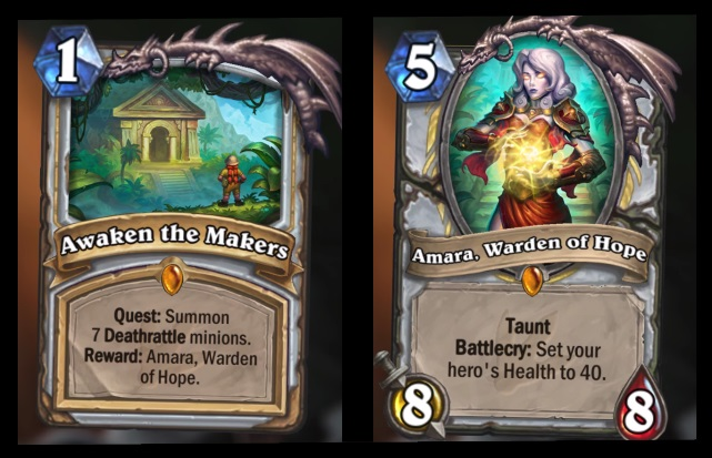 hearthstone quest card