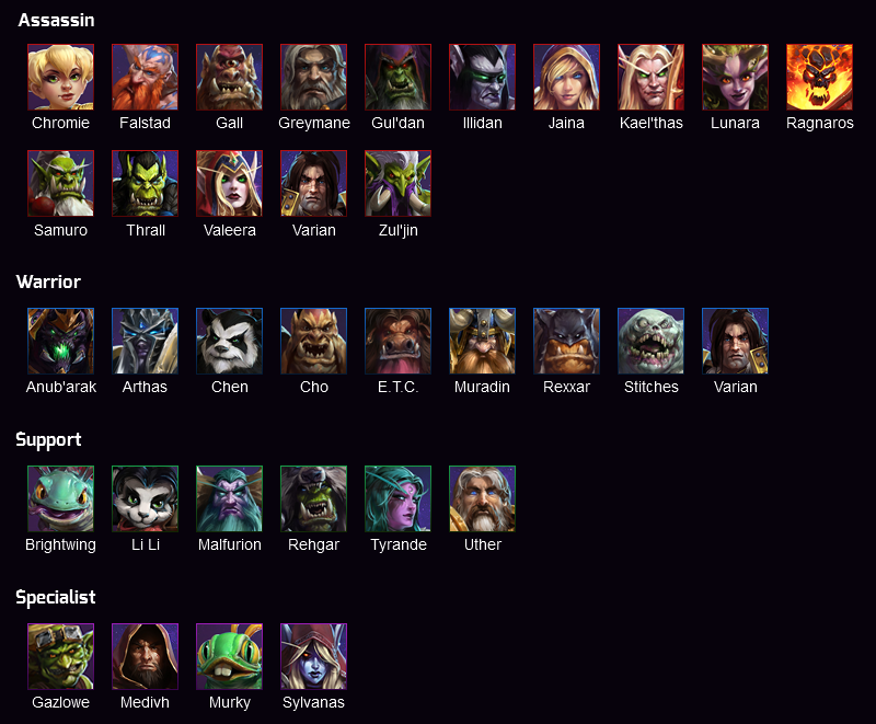 heroes of the storm wow universe heroes