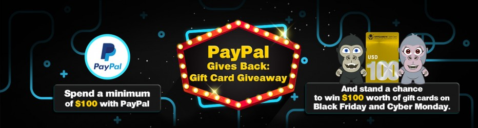 PayPal Gives Back: Gift Card Giveaway 2017